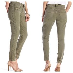 Lucky Brand Brooke Skinny Utility Green Moto Jeans